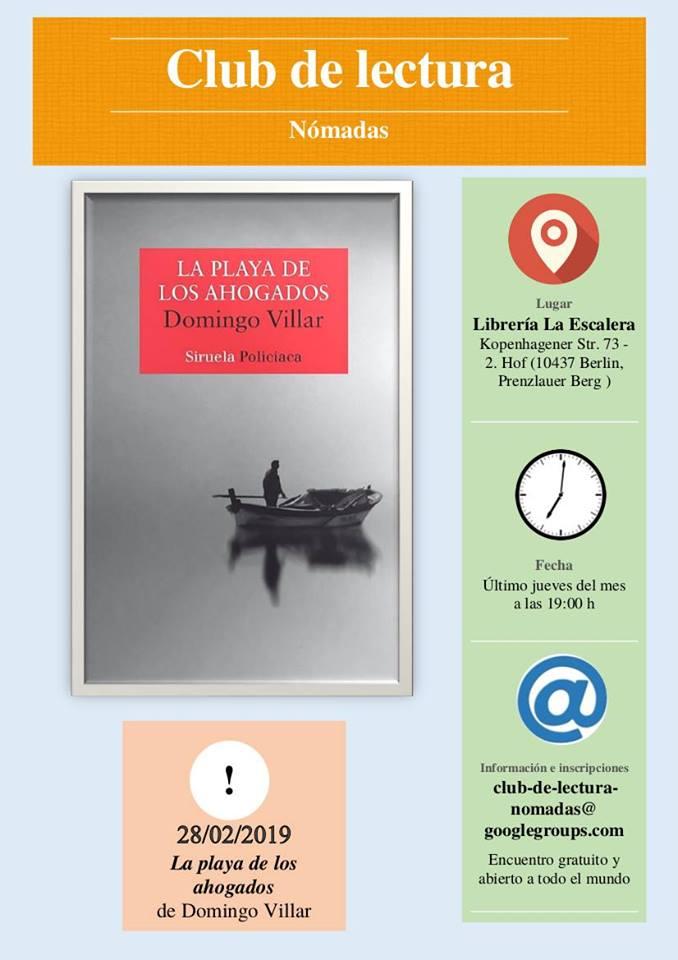 Club de lectura: La playa de los ahogados. Domingo Villar. @ La >Escalera | Berlin | Berlin | Alemania